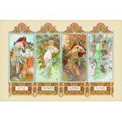 Plakát 10 Mucha (four seasons)