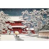 Plakát 01 Kawase - Zojo temple in the snow
