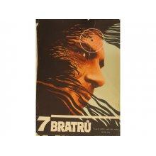 7 BRATRŮ (Sette fratelli Cervi, I) filmový plakát